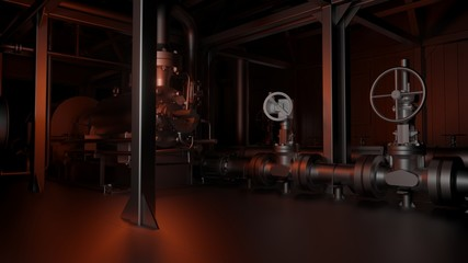 Metal pipes and valves