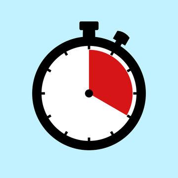 Stoppuhr Icon zeigt: 20 Minuten 20 Sekunden oder 4 Stunden