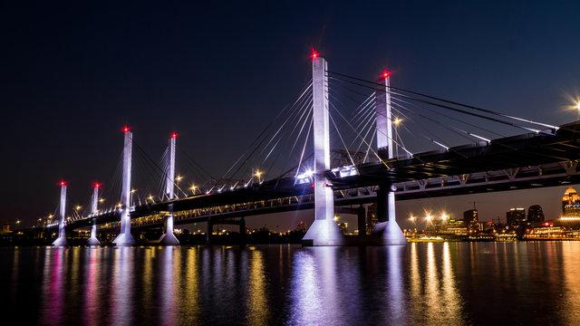 Bridge in Louisville Kentucky  (Night Photo)