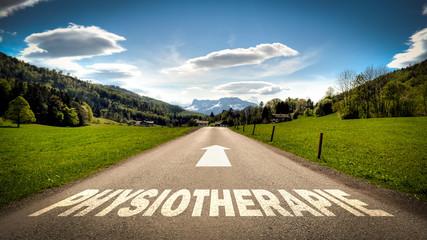 Fototapete - Schild 401 - Physiotherapie
