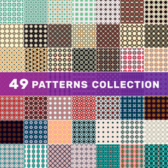 Set of geometric abstract patterns. Decorative background for cards, invitations, web design