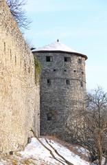 Hukvaldy castle in winter, Czech Republic