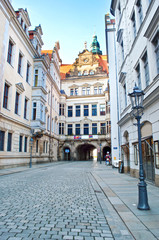 Empty picturesque street in Dresden