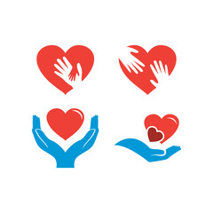 Illustration of charity logo design template