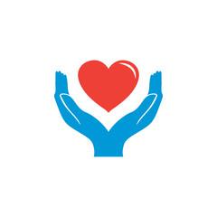 Illustration of charity logo design template