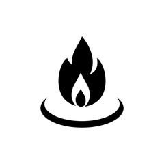 Gas Flame Icon or Logo