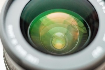 Beautiful camera lens close-up