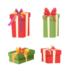 Set of Packages with Surprises Inside. Gifts Icons