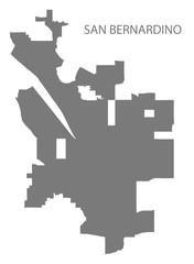 San Bernardino California city map grey illustration silhouette shape