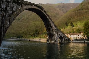 devil's bridge in Tuscany, Italy