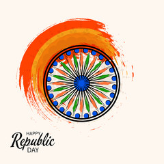 Vector illustration of a Background for Indian Republic Day Concept.