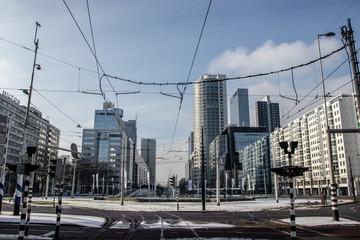 Hofplein Rotterdam Winter
