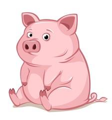 Confused pink pig.