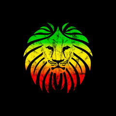 Like a Lion Reggae Style Distressed Grunge