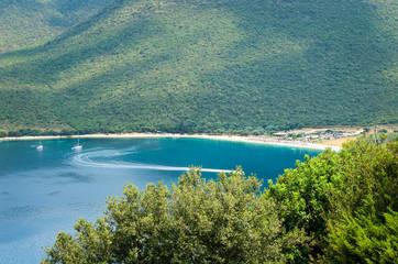 Antisamos beach Kefalonia island, Greece. Beautiful sea bay of Antisamos on Kefalonia island, Greece