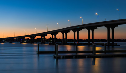 Wall Mural - Vilano Bridge at dusk in St. Augustine, Florida