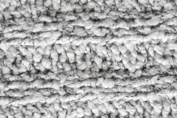 white knitted knit fabric
