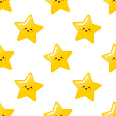 Cute golden star pattern