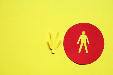 Paper Men On Yellow