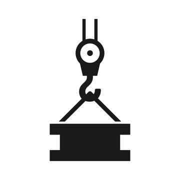 Industrial crane hook icon vector. illustration symbol background white