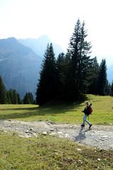 Wanderer in den Allgäuer Alpen