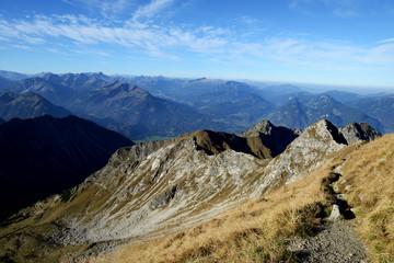 Allgäuer Alpen - Blick vom Nebelhorn