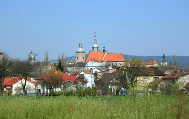 Obraz Basilica of St. Margaret. Nowy Sacz, Poland. - fototapety do salonu