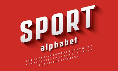 Vector of modern 3D bold alphabet design