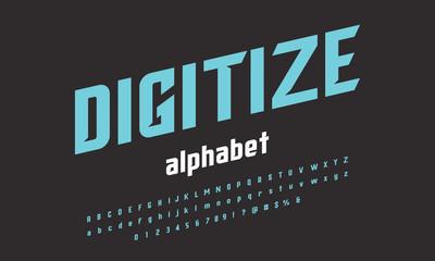 Vector of modern stylized alphabet design