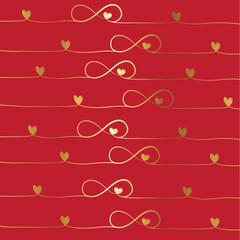 golden infinity background, vector illustration