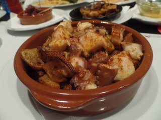 A bowl of octopus tapas