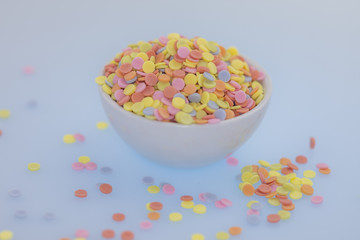 Colorful sweets, colorful sprinkles