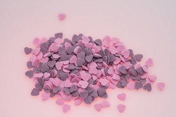 Purple ,Pink Candy Hearts,Colorful sweetss, sprinkle   pile