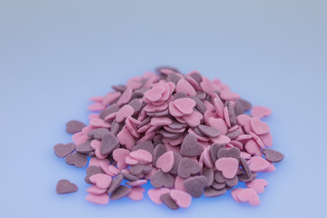 Purple ,Pink Candy Hearts,Colorful sweetss, sprinkle