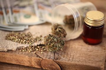 close up recreation marijuana medical cannabis oil cbd
