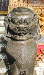 Buddhist  sculpture of a lion in Thailand