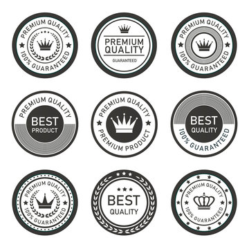 set of premium badges and labels