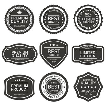 set of vector badges and labels