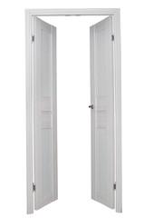 White door isolated on white background
