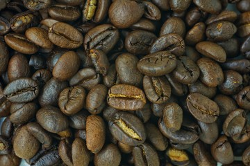 group of roasted coffee
