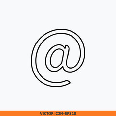 Email icon sign vector. Web office illustration.