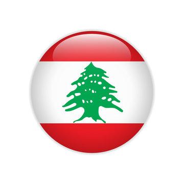 Lebanon flag on button