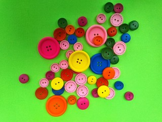 colored buttons on a bright background