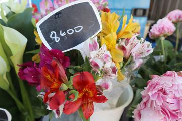 iris et fleurs chez le fleuriste