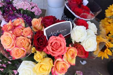 roses à la vente