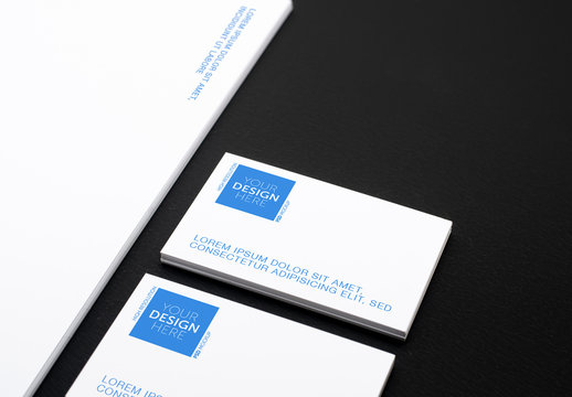 Business Cards and Letterhead Mockup