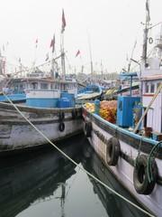 Der Hafen von Malpe in Karnataka / Südindien