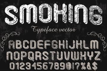 Script Font Bourbon -Typeface Vintage frame -label design, Whiskey and Wine label, Restaurant, Beer label. Vector- illustration