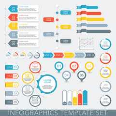 Infographic Elements - Data Analysis, Charts, Graphs - vector EPS10