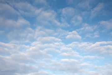 High Altitude Ciroccumulus clouds in blue sky
